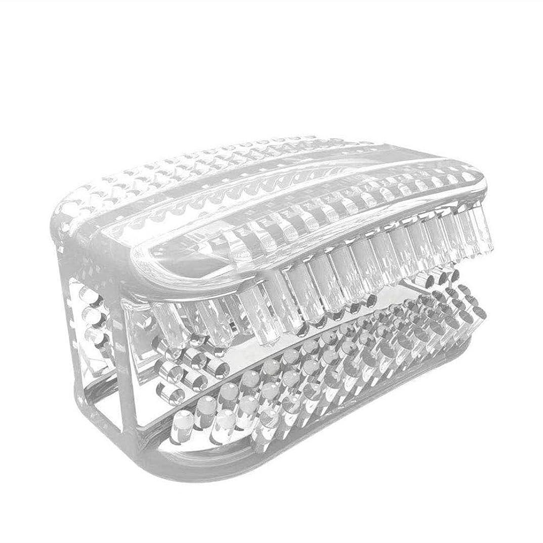 極めて受粉者局SUPVOX シリコン歯ブラシポータブル怠惰な人360°全周咀嚼歯ブラシ歯のクリーニングツール手動歯ブラシ(透明ホワイト)