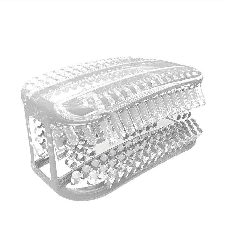 農業溝申し立てられたHealifty 便利な歯ブラシ怠惰な咀嚼ポータブルミニホワイトニング歯ブラシ歯のクリーニングツール(透明ホワイト)