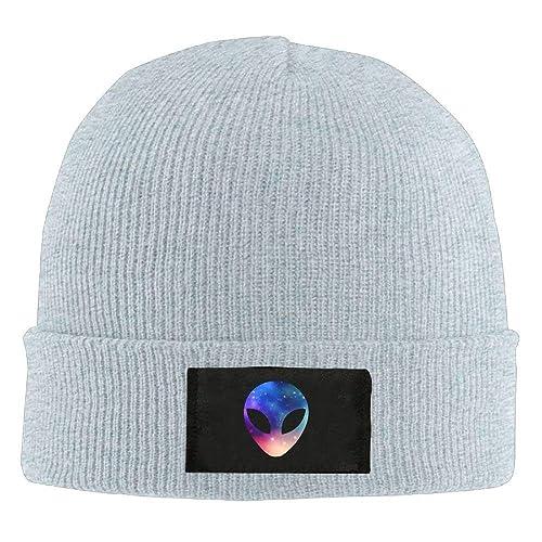 92a73bbd482 Space Alien Head Colorful Unisex Warm Winter Hat Knit Beanie Skull Cap Cuff Beanie  Hat Winter