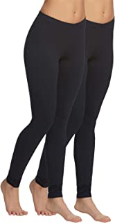 Velvety Super Soft Lightweight Leggings for Women - Yoga Pants - (2-Pack)