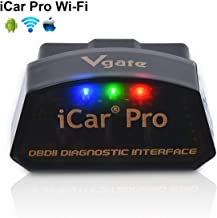Vgate-LPHUS iCar Pro Wi-Fi OBD2 Scanner Scan Tools OBDII Car Diagnostic Tool Code Reader Fault Check Engine Light for iOS iPhone iPad/Android Compatible with ELM327 Adapter