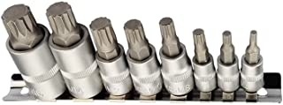 XZN Multi-tooth hylsnyckelset I M4 M5 M6 M8 M10 M12 M14 M16 I 8 st. flertandad bitsats