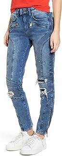 Tommy Hilfiger X Gigi Hadid Women's Speed Distressed Ankle Zip Jeans