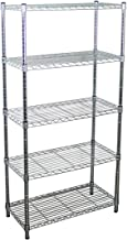 SafeRacks NSF Certified Commercial Grade Adjustable 5-Tier Steel Wire Shelving Rack - 14