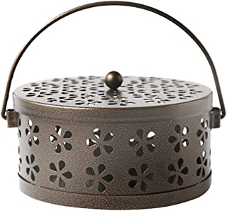 MyLifeUNIT Mosquito Coil Holder, Retro Portable Mosquito Incense Burner for Home and Camping (Bronze)