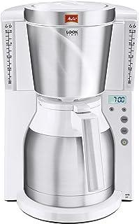 Melitta Look Therm Timer, Termsah ve Zamanlayıcı Fonksiyonlu Kahve Makinesi, AromaSelector 10 bardak Beyaz 6738037