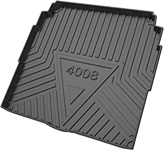For Peu-geot 301/2008/5008 2010 to 2021 Large Waterproof Heavy Duty Rubber Boot Mat Liner Front And Rear Trunk Mat Rear Ca...