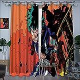 Cortina de impresión de tela Mi héroe academia luces verdes cartel cómic dibujos animados Anime El arte de persianas opacas ocultas 42x54 pulgadas