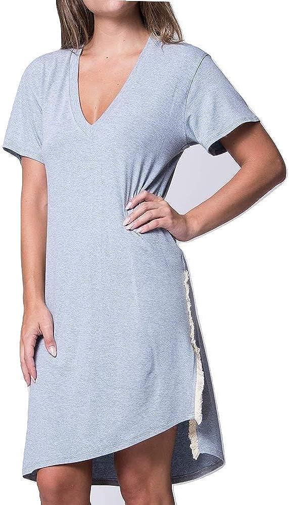 Wst Cst Women's Dunmore Casual Short Sleeve V-Neck Side Slit ...