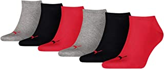 Puma unisex trainer socks, ankle socks, sport socks, 261080001 6 pairs, colour: multi-colour, quantity: 6 pairs (2 x 3 pac...