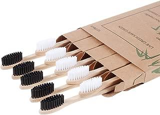 Nuduko Biodegradable Reusable Bamboo Toothbrushes, Bamboo Toothbrush made from Natural Bamboo Eco-Friendly BPA Free Bristles, 10 pack