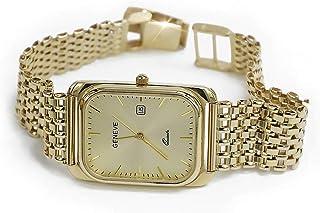 RussiangoldCom - Reloj italiano amarillo ruso de los hombres de oro rosa Geneve mw001y wb004y