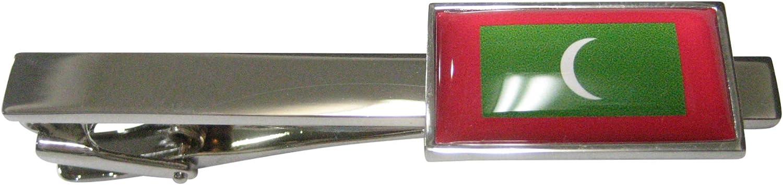 Kiola Designs Thin Bordered Republic of Maldives Flag Tie Clip
