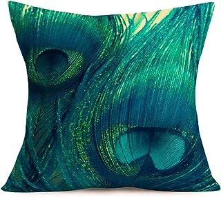 "YANGYULU Throw Pillow Cover Cute Elephant Cotton Linen Home Decor Pillow Case Sofa Cushion Cover 18"" x 18"", Cotton Linen, ..."