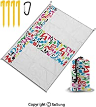Beach Blanket Sand Proof and Waterproof Pocket Sized Picnic Mat 67