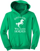 A Girl Who Loves Horses Horse Lover Gift Girls' Youth Hoodie