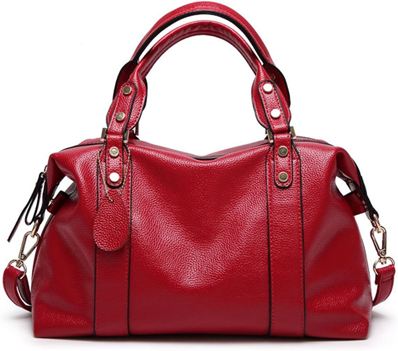 c42976a72df44 Tasche Damen Leder Einfache gro szlig e Kapazit auml t Handtasche  Schultertasche (Farbe rot) B07FM4DFLW Viel Spaß 6e340f