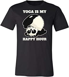 Yoga is My Happy Hour Funny Gifts Idea Jokes for Mens Womens T-Shirt