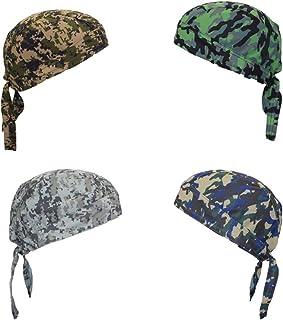 ransiy Skull Cap Head Wraps Biker Dew Rag Beanie Cap Hat Chemo Cap for Men and Women