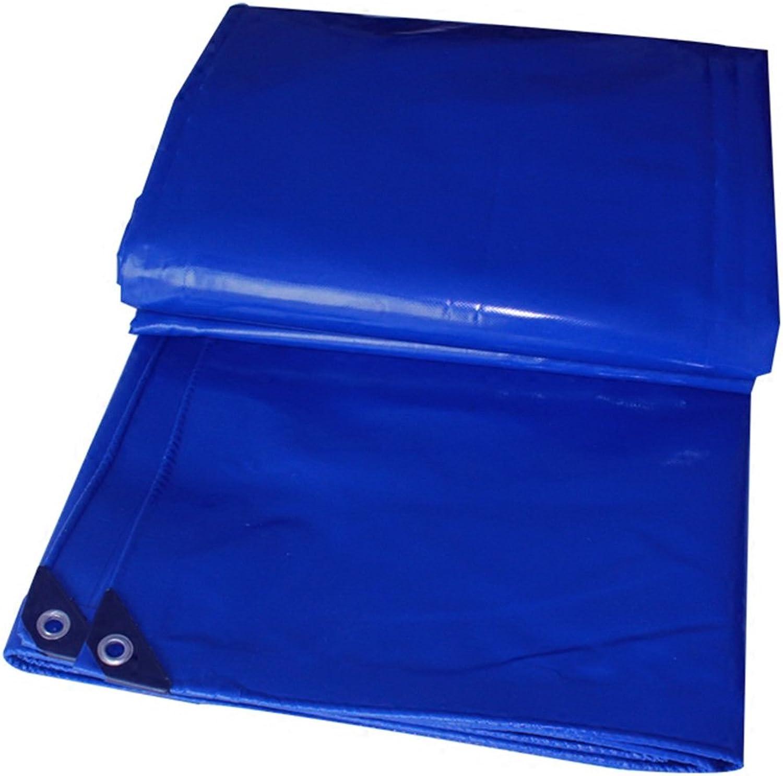 HAIPENG Plane Gewebeplane Holzplane Abdeckplane Schutzplane Wasserdicht Verdicken PVC Draussen, Blau, Mehrere Gren, 600G M2 (Farbe   Blau, gre   3x5m)