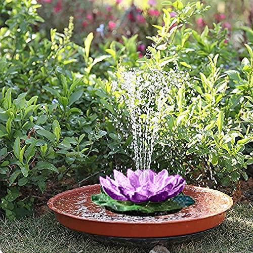 Huhu833 Schwimmende Lotus Laterne Solarleuchte Lotus LED Künstliche Lotusblüte Schwimmleuchten Teichleuchte Pool Teich Garten Festival Weihnachten Erntedankfest Dekoration (Lila)