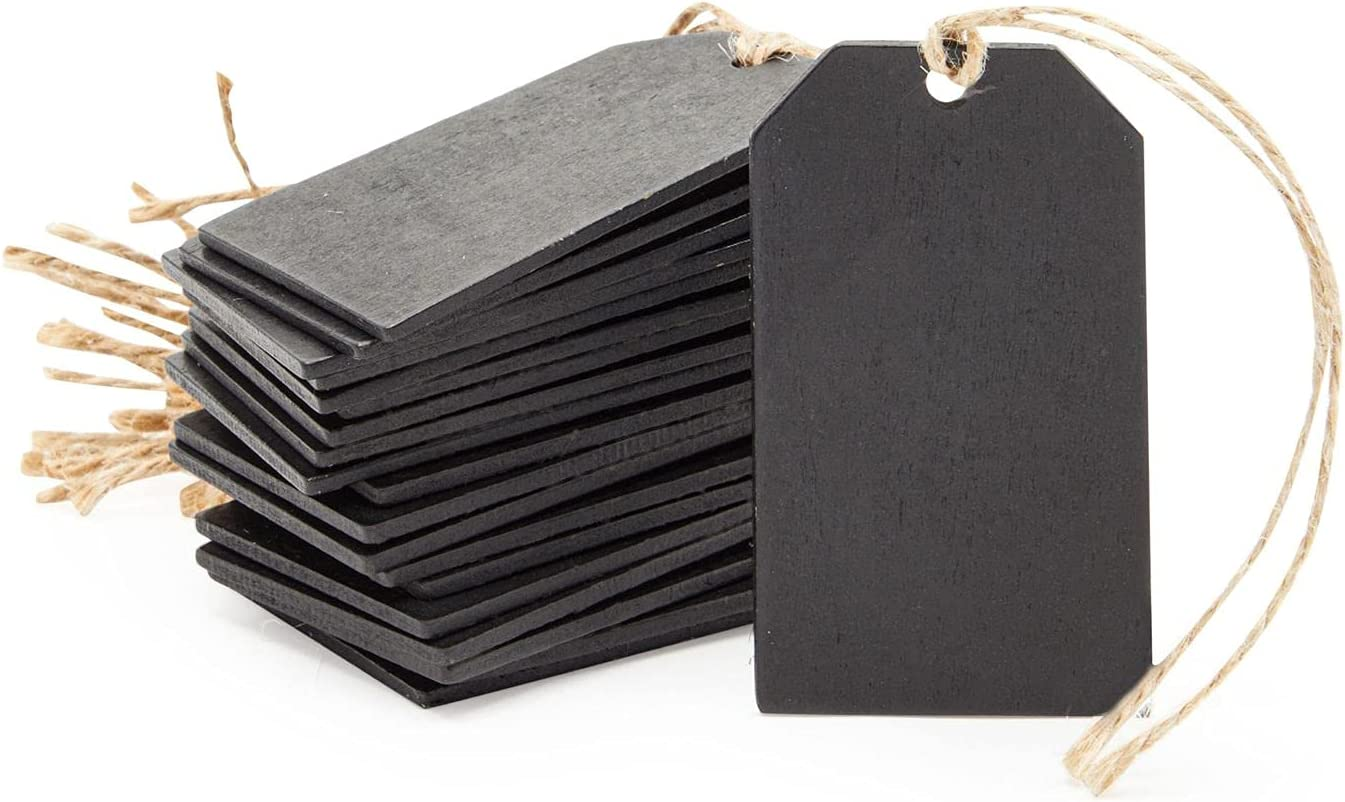 Juvale Mini Chalkboard Signs Black Gift Tags Label for and Spring Choice new work one after another Bags