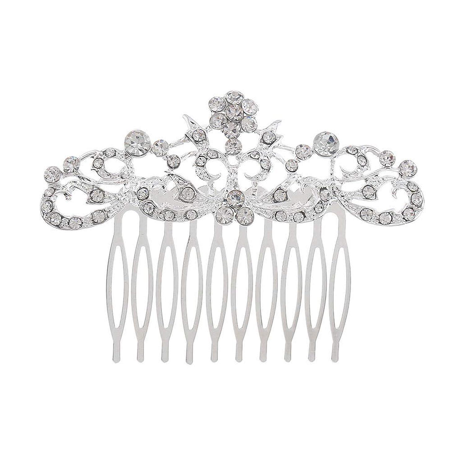 サスペンションサンドイッチ勇者髪の櫛の櫛の櫛の花嫁の髪の櫛のファッションラインストーンの櫛の櫛の花嫁の頭飾りの結婚式のアクセサリー