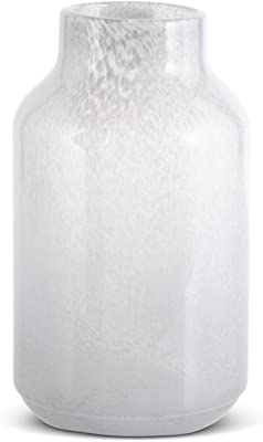K&K Interiors 17379A-3 10.5 Inch Gray Speckled Glass Vase
