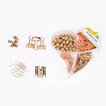 ACCO P6650 Set de clips y accesorios color dorado, 124
