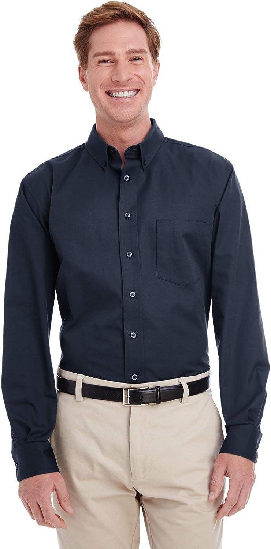 Harriton Tall Foundation 100% Cotton Long-Sleeve Twill Shirt with Teflon (M581T)