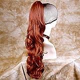 Fox Rouge Longue queue de cheval postiche extension/de la mâchoire Pince Crabe en sur cheveux ondulés pièce britannique