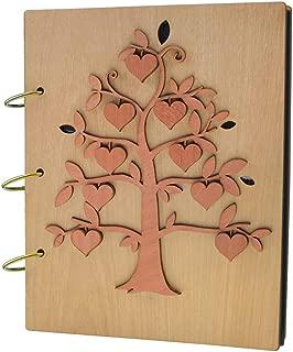 Giftgarden Family Tree 5x7 Photo Album Wood Photo Book 120 Pockets