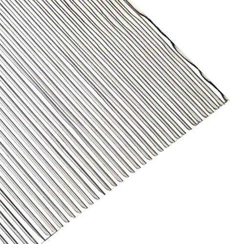 """efco """"und"""" flach Wachs Streifen, Silber Brilliant, 200x 1mm, 30-TLG."""