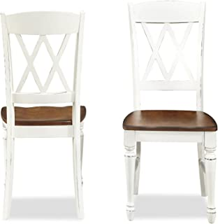 Monarch White/Oak Stools by Home Styles