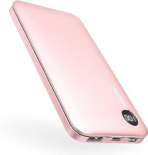 モバイルバッテリー 10000mAh 大容量 バッテリー 2USBポート スマホ携帯バッテリー Soluser【PSE認証済】iPhone&Android対応 (rosegold)