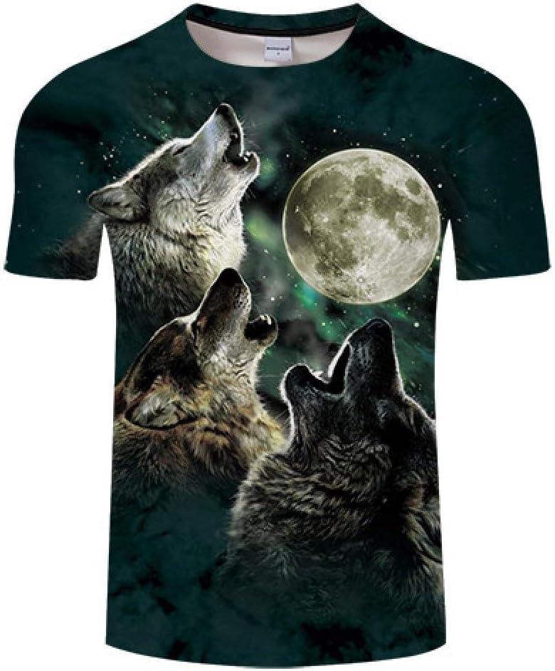 Camiseta Wolf Moon 3D Print Camiseta Hombre Mujer ...