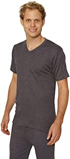 Octave 3 Pack Mens Thermal Underwear Short Sleeve 'V'-Neck T-Shirt/Vest/Top