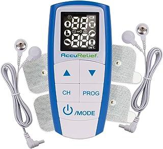 AccuRelief Complete 3-in-1 TENS Unit، EMS، دستگاه ماساژور - تقویت کننده عضلات الکتریکی درد تسکین دهنده درد با 4 الکترود برای گردن ، پشت و بدن کامل - FDA و OTC تصویب شد