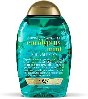 OGX Intensely Invigorating + Eucalyptus Mint Shampoo, 13 Ounce (Pack of 6)
