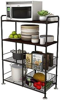 HYYDP étagère Étagère de Rangement Casiers, Organisateur Rack 4-Tier Cuisine Baker Rack Utility Four Support de Stockage P...