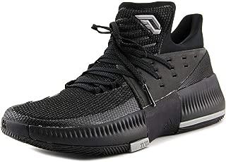 adidas Dame 3 Shoe Mens Basketball 10.5 Core Black-Core Black-Solid Grey