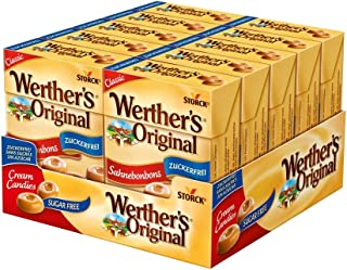 Werthers Original Cream Sugar Free Candies in Box, 10 x 42 Grams