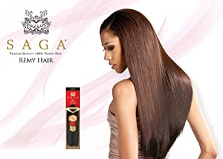 MilkyWay Saga Gold Remy Yaky 100% Human Hair Extensions Weave (20