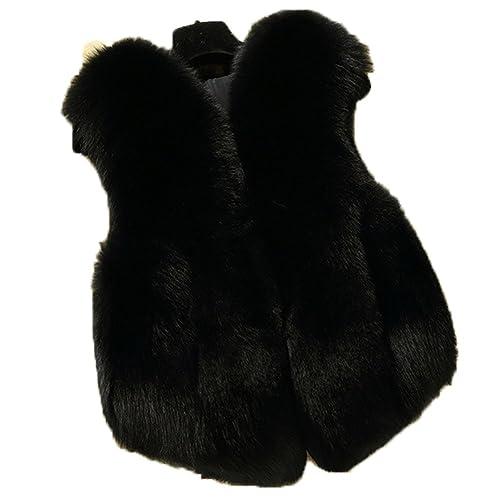 dc3f4b7ab FOLOBE Child and Women Faux Fox Fur Coat Jacket Waistcoat hot Winter Warm  Gilet Kids Outwear