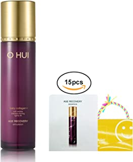 Ohui Age Recovery Anti-wrinkle Emulsion 130ml/ 4.3oz, Baby Collagen + Age recovery Essence 15pcs X 1ml