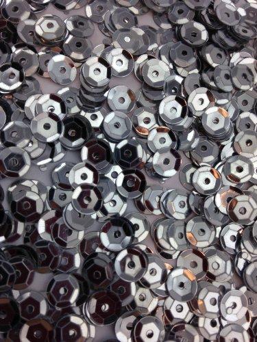 1400 Pailletten - Ø 6mm - Riesige Auswahl an Farben (Silber)