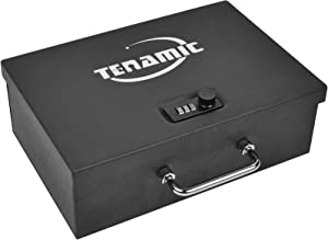 Tenamic Portable Safe Box with Combination Lock Handgun Safe Security Case Gun Safe Box for Two Pistols, 0.25-Cubic Feet, Black