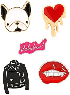 MeliMe Funny Enamel Brooch Pin Set Cute Cartoon Brooches Lapel Pins Badge for Kids Children Jean Bag Clothes Decoration
