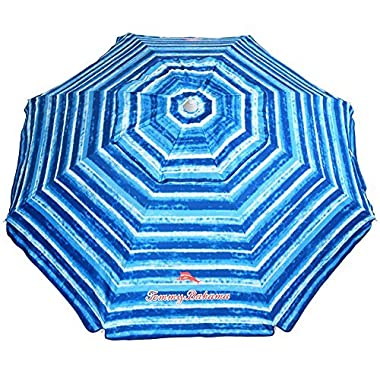 Tommy Bahama Sand Anchor Beach Umbrella SPF 100 Sun Protection (Blue/White)
