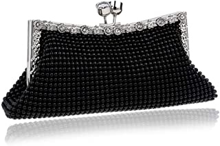 Ladies Shoulder Bag Fashion Exquisite Evening Bag Women's Purse Personality Crystal Prom Bag Clutch Bag(FM),C